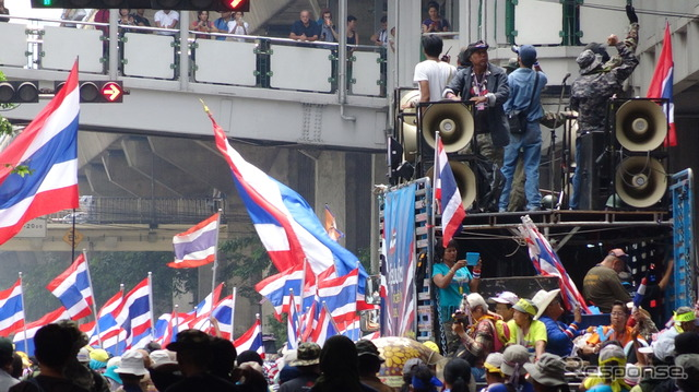 Anti-government protesters in Bangkok ( 3/28 )
