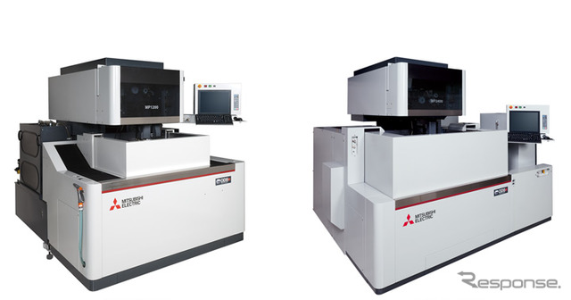 Mitsubishi Electric, wire electrical discharge machining machine MP series (left :MP1200 and right :MP2400)