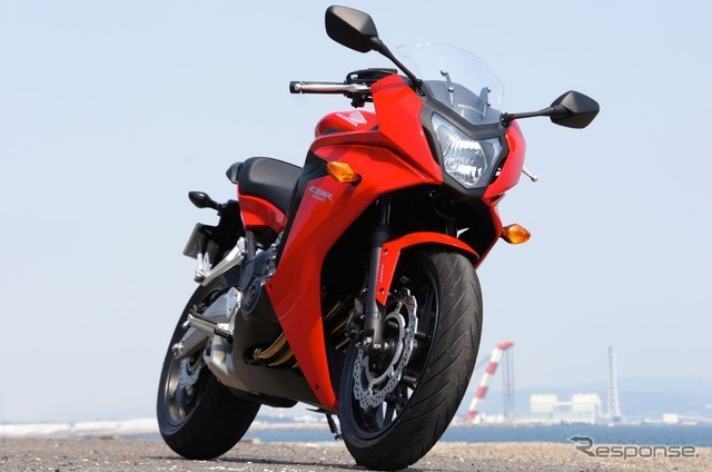 Honda CBR650F release: フルカウ model in the exhaust of sport photo collection