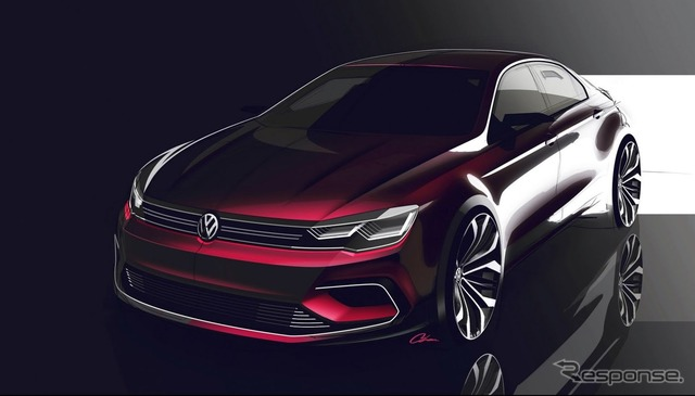 Volkswagen new midsize Coupe notice sketch