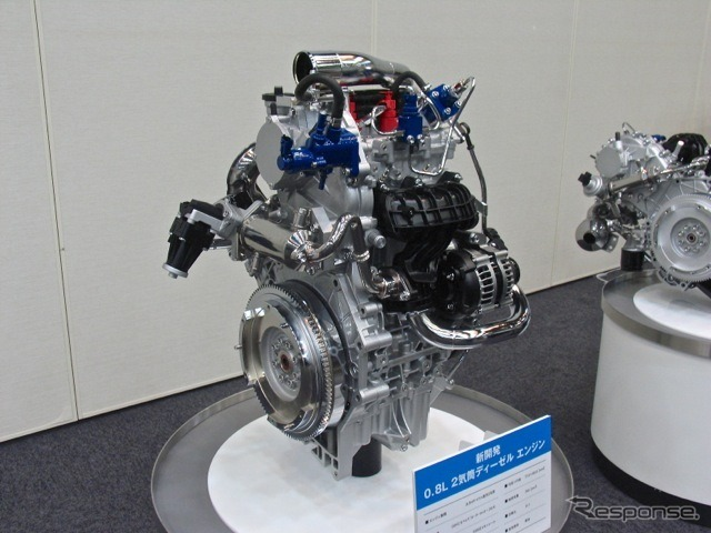 Development of 800 cc 2-cylinder diesel