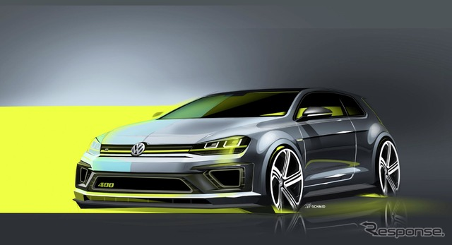 Volkswagen Golf R 400 notice sketch