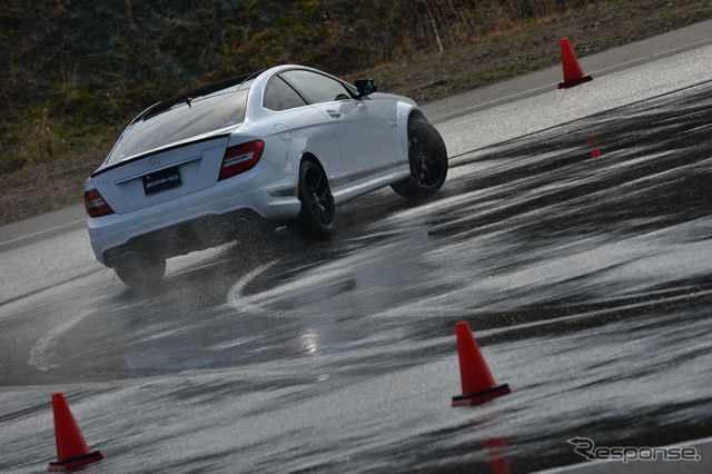 AMG driving Academy basic training in Twin Ring Motegi Motegi