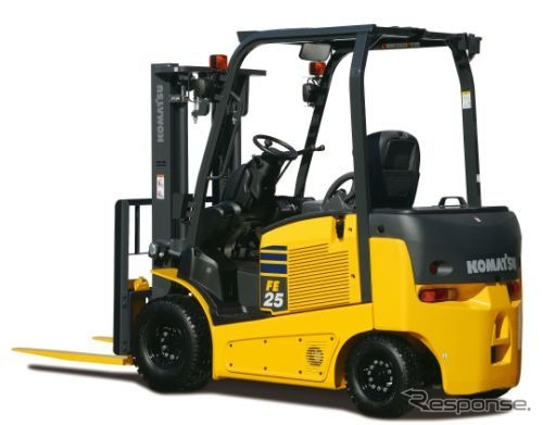 "Komatsu, new battery-powered forklift truck ""FE25-1"" released"