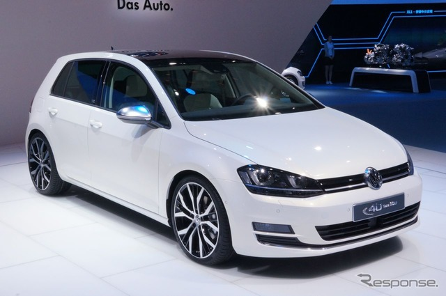 Beijing motor show 2014 VW Golf 40th anniversary commemoration