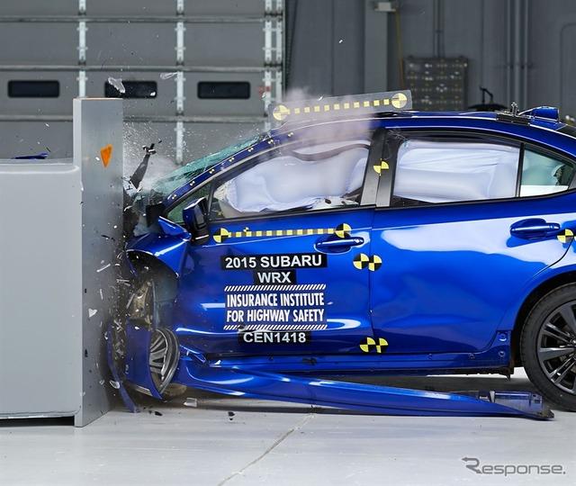 New Subaru WRX's IIHS crash test