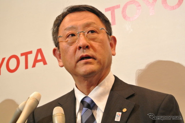 And Toyota Motor Corp. President Akio Toyoda (reference image)