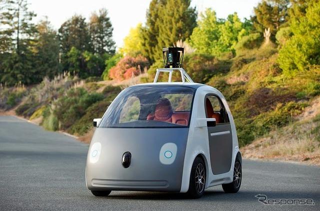 Developed Google driverless car prototype car