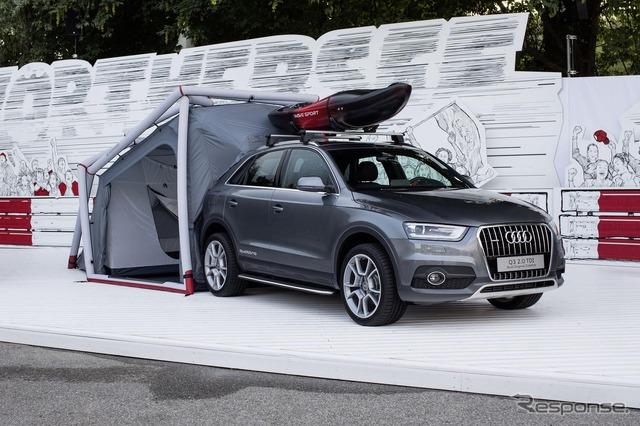 เต็นท์ค่าย Audi Q3