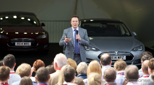 And Tesla Motors model S right hand drive vehicle events appeared in United Kingdom London Elon Musk