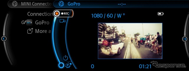 MINI and GoPro cameras with image