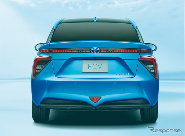 The all-new Toyota fuel cell vehicle (FCV) sedan