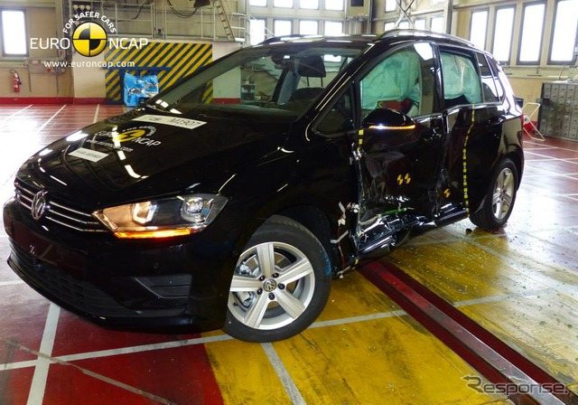 New Volkswagen Golf スポーツバン Euro NCAP crash safety tests