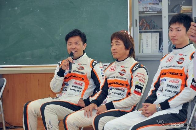 Kosuke Matsuura, Shinichi Takagi player, Kobayashi Takashi players from left