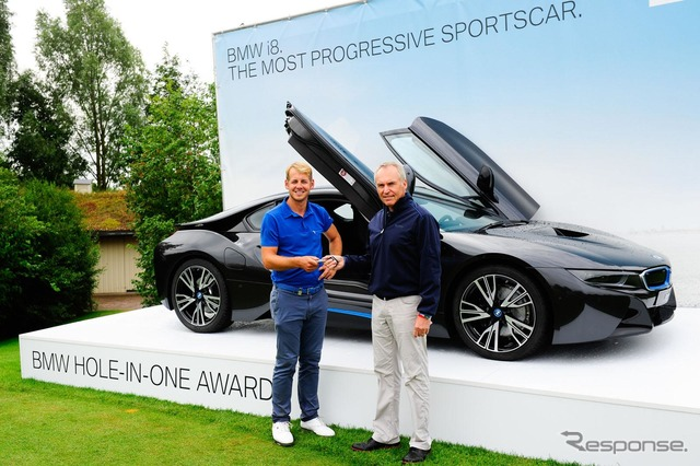 Professional golfer won the BMW i8, James Heath player