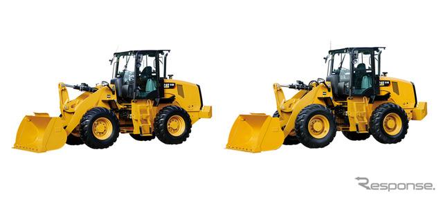หนอนผีเสื้อ Cat 910 K (ซ้าย) และ Cat 914 K