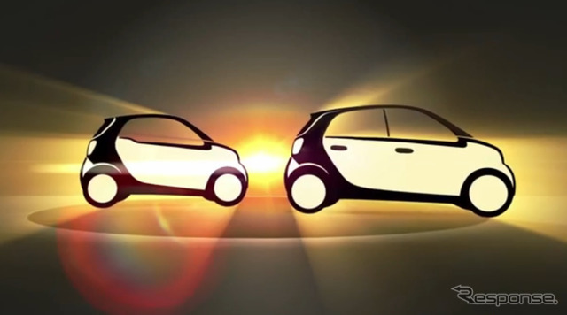 Daimler with official sites next illustrations for the smart fortwo and forfour.