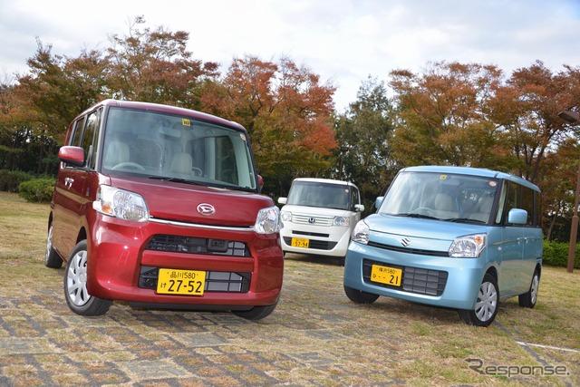 Daihatsu tanto, spacia Suzuki, Honda