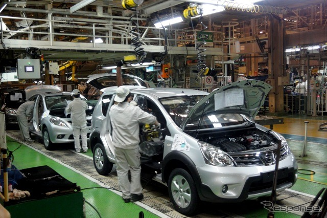 Dongfeng Nissan, flower city factory assembly line (reference image)