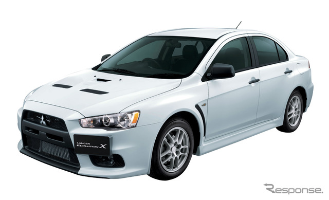 Mitsubishi's basic racing model, the Lancer Evolution X RS