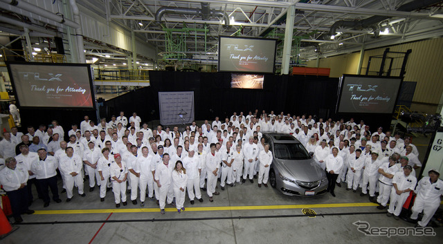 Production commences for the Acura TLX at Marysville plant in Ohio, USA