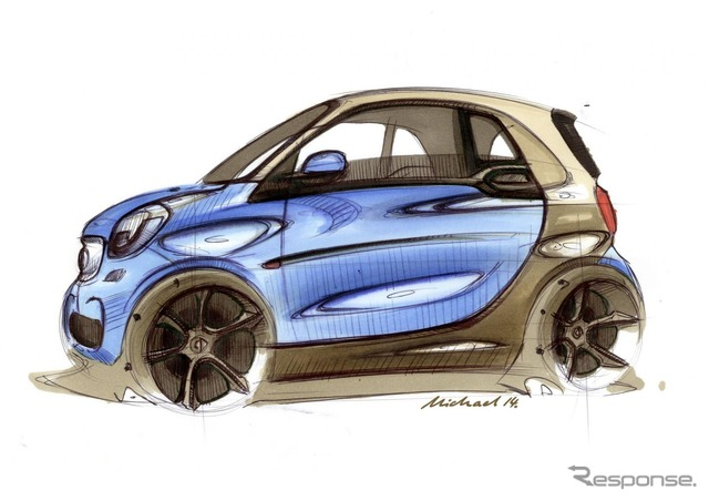 Notice sketches of the new smart fortwo