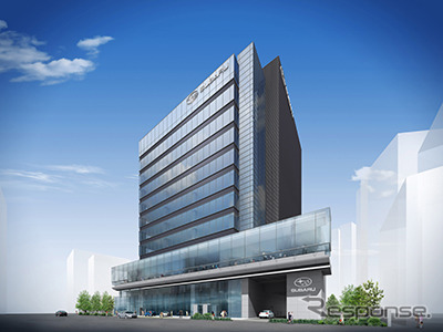 Fuji Heavy Industries (Subaru) will relocate its headquarters on August 18. The image is its new office, the Ebisu Subaru Building