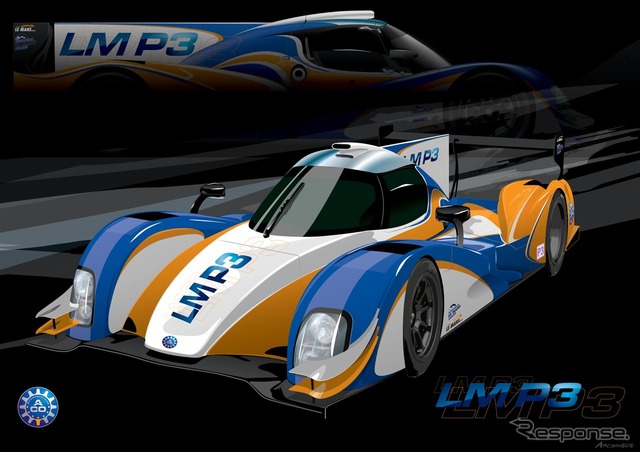 Sketch of the LMP3 racing car