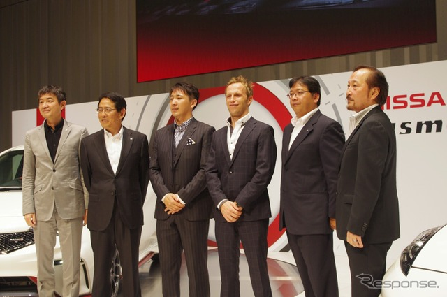 Nismo President Shoichi Miyatani (2nd from left)