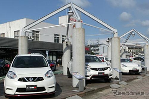 Nissan Prince Oita Sales, Haneya location (reference image)