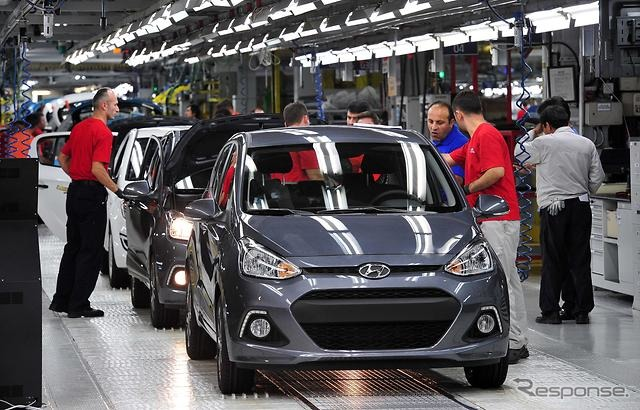 Produced at the Turkey plant of Hyundai i10