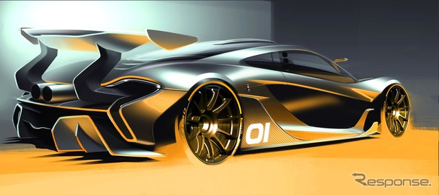 Notice sketches of McLaren P1 GTR design concept car