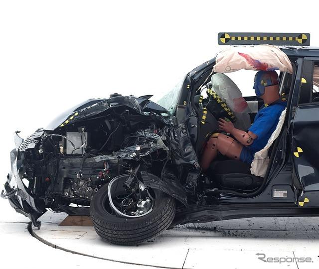 Nissan Juke U.S. IIHS small overlap collision test
