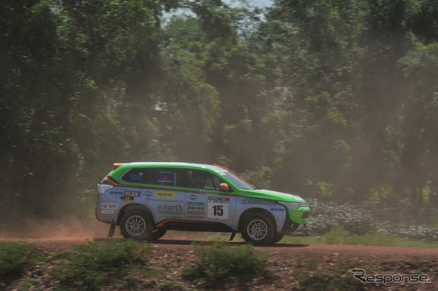[Asia cross country rally 14: day 5... Mitsubishi Outlander PHEV, regenerative up lively pace