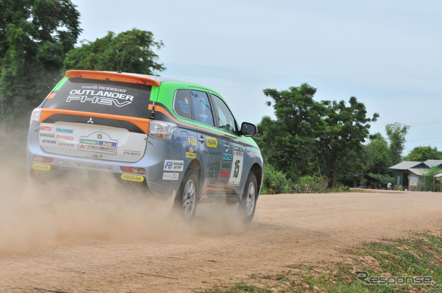 [Asia cross country rally 14: day 6... Mitsubishi emerged in the eighth,... to the final destination