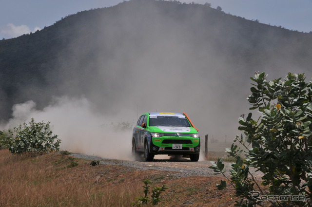 2014 Asia Cross County Rally: Mitsubishi Outlander PHEV got its two-year consecutive class victory