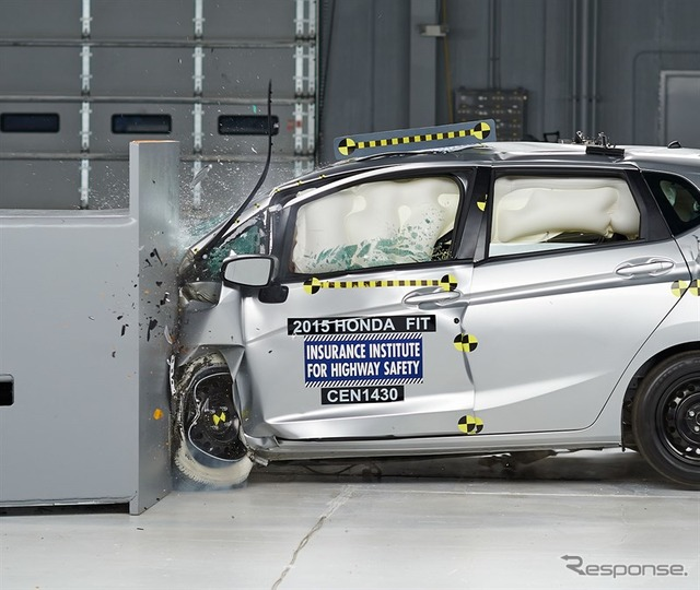 IIHS small overlap crash tests of the new Honda fit
