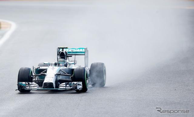 Nico Rosberg ( F1 Belgium Grand Prix qualifying )