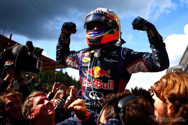 Daniel ricciardo Red Bull won (F1 Belgium GP)