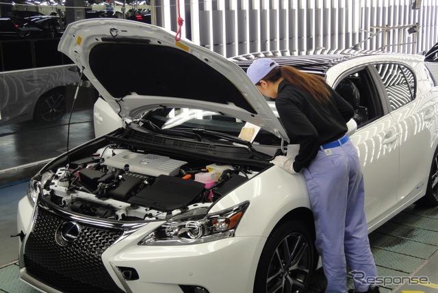Toyota Kyushu Lexus NX production line