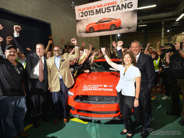 New Ford Mustang production was started in the United States