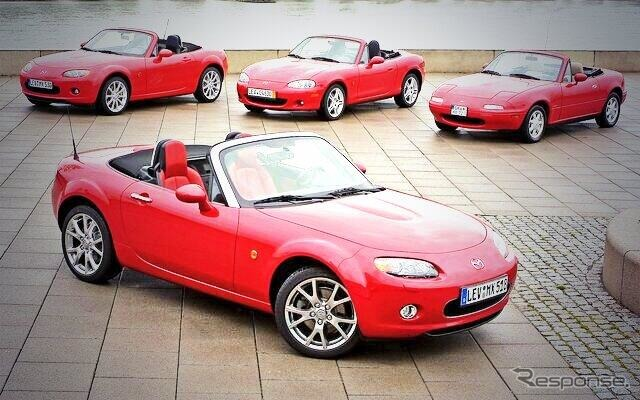 Successive models of the Mazda Roadster
