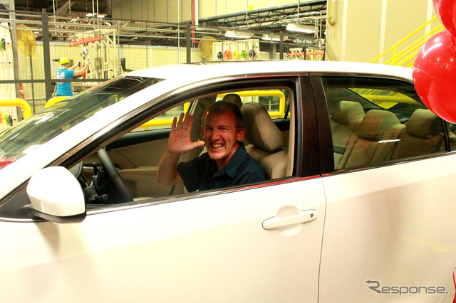 Tom Keith, the present Camry 10 million cumulative production in the U.S. Toyota's Kentucky plant