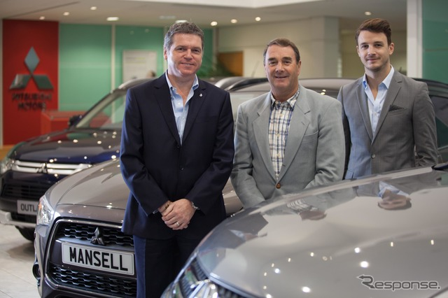In the United Kingdom to participate in the Mitsubishi car dealership management Nigel Mansell's (Central)