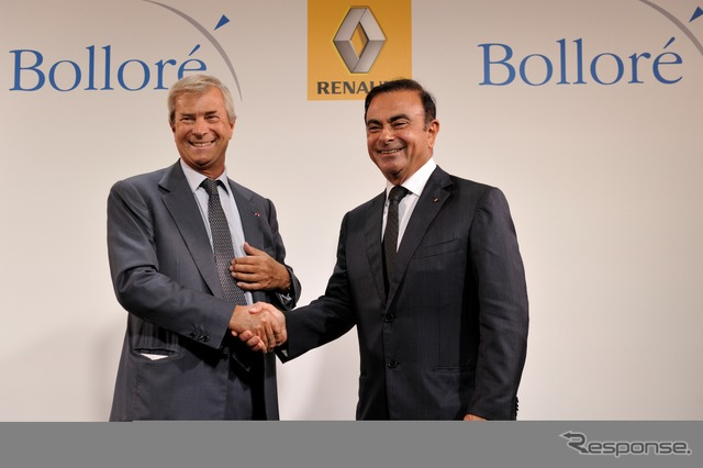 Ministers announced the Alliance in EV ボロレ and Renault