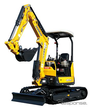 """YANMAR peralatan konstruksi, belakang ayunan mini excavator """"ViO25-6"""""""