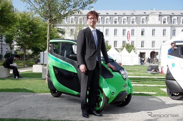 i-ROAD's Chief Engineer Akihiro Yanaka of the Toyota Product Planning Department