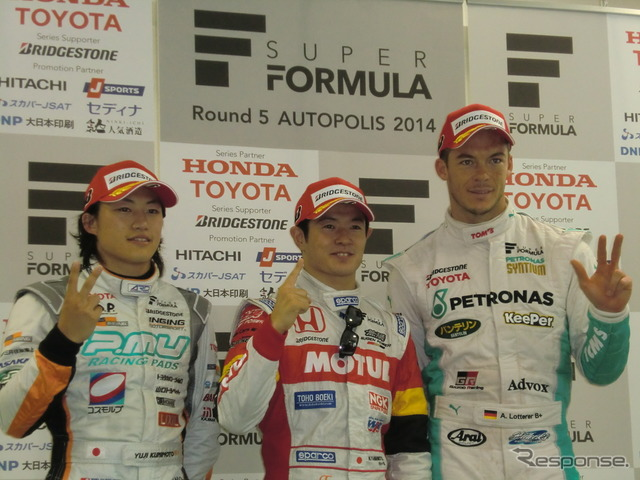 From left Yamamoto Yuji kunimoto's qualifying second, Paul, t., 3rd lotterer