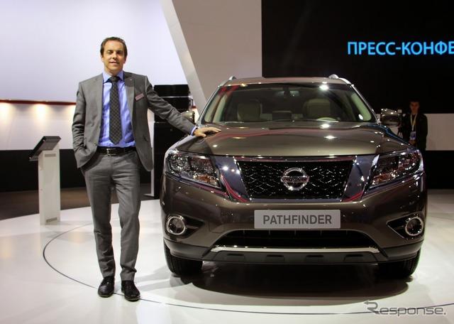 Nissan international Russia Marketing Director Bastian shop said
