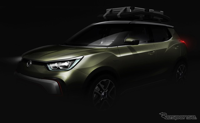Notice sketches of the SsangYong motor company XIV-adventure